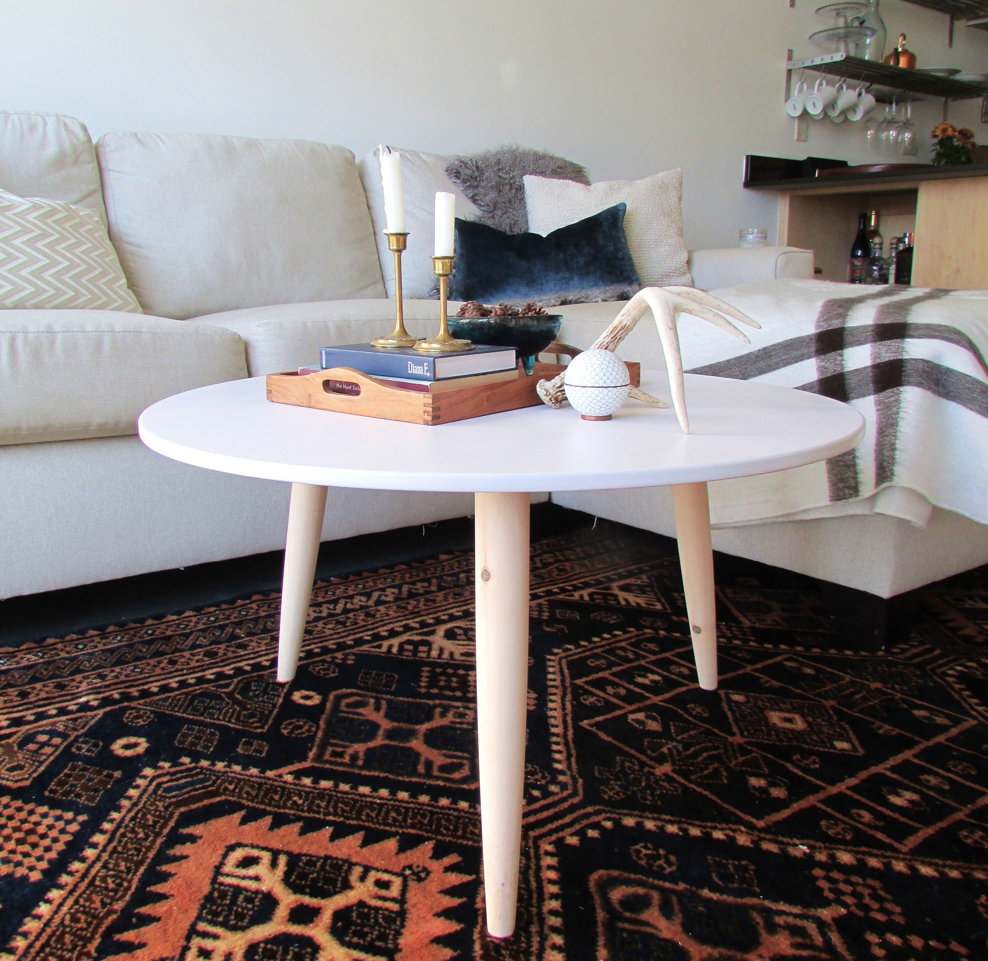 DIY Danish Modern Coffee Table Francois et Moi