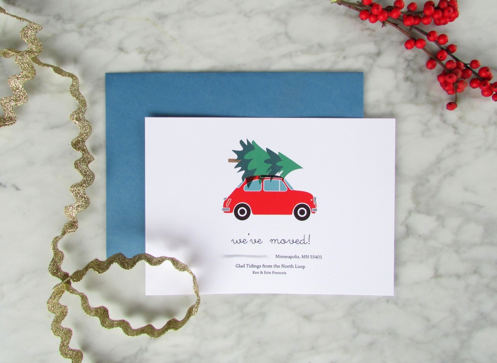 2014 Holiday Moving Announcement Cards - Francois et Moi