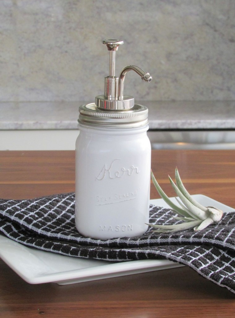 Milk Glass Soap Dispenser Diy Francois Et Moi