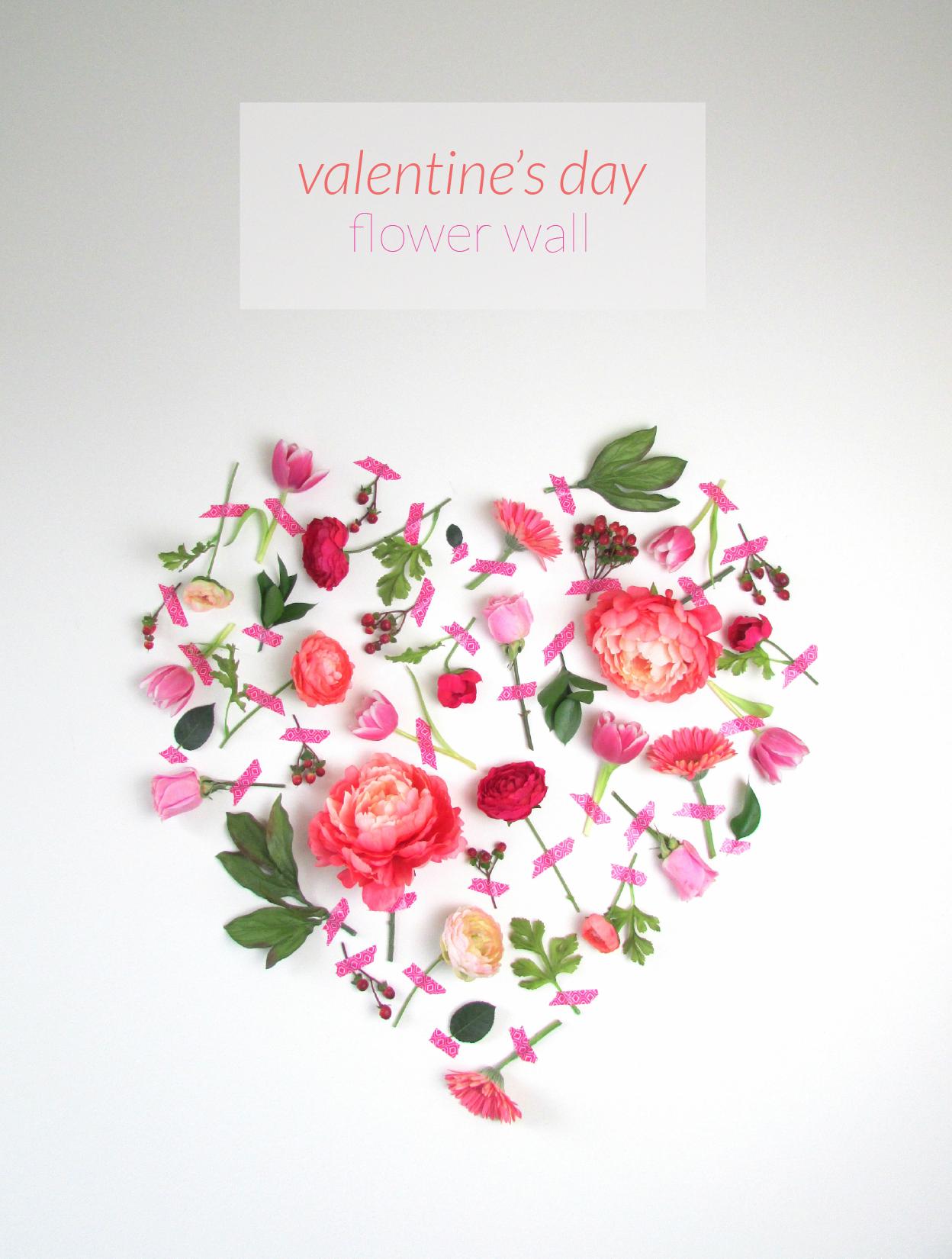Diy Wall Flowers: Valentine's Day Flower Wall