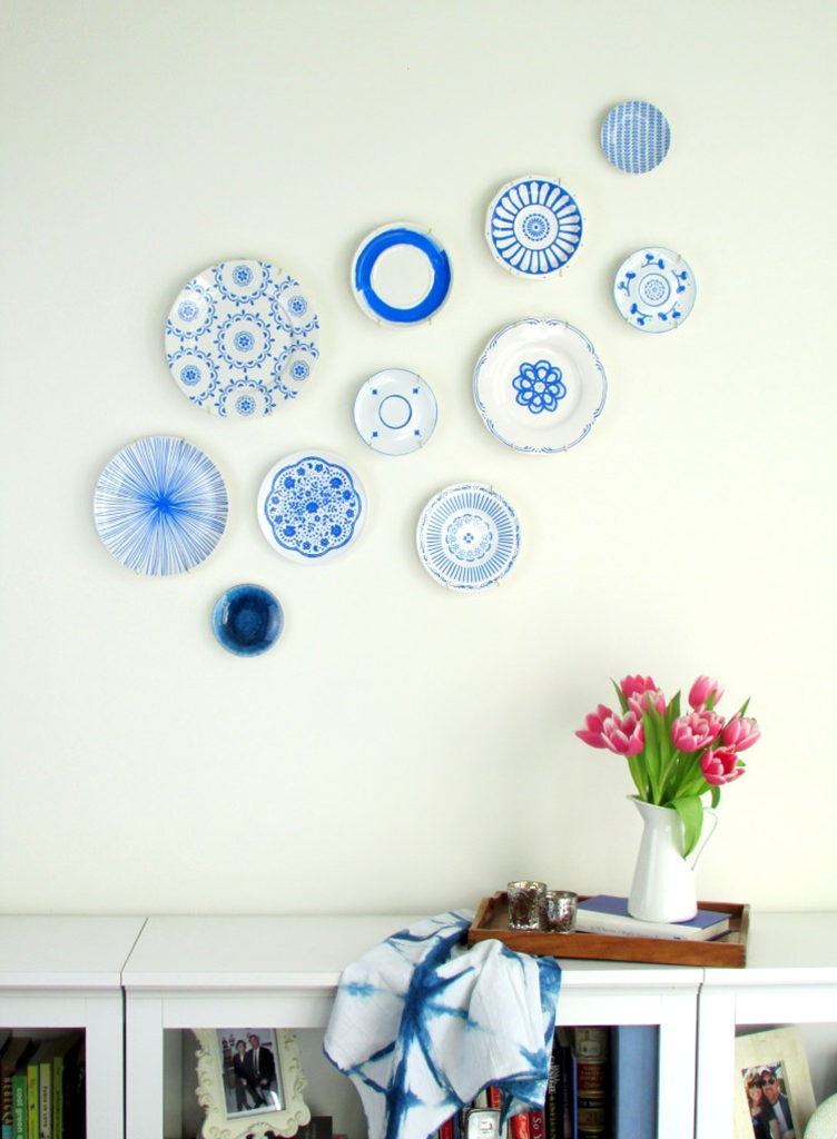 Plate wall diy francois et moi for Idee deco murale originale