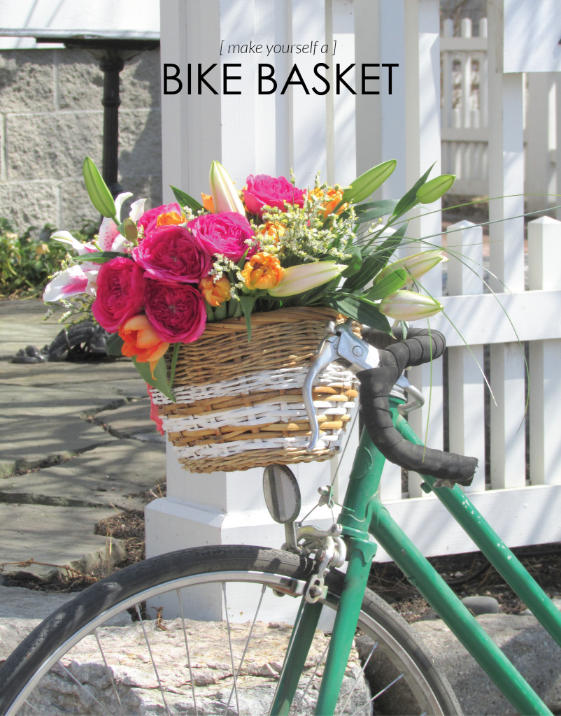 DIY Bike Basket | Francois et Moi #diy #bikebasket #summer