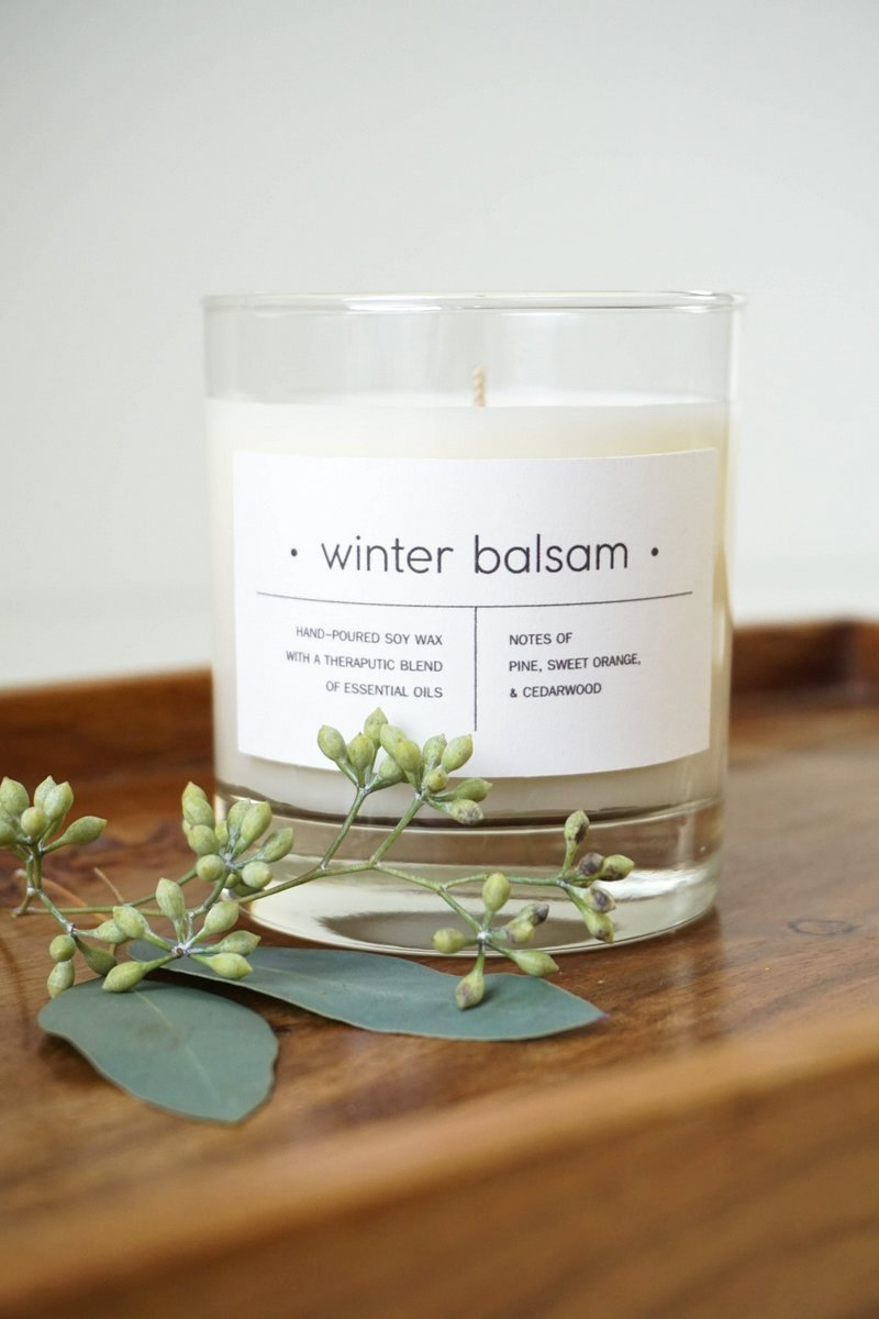 Diy Essential Oil Holiday Candles Printable Label