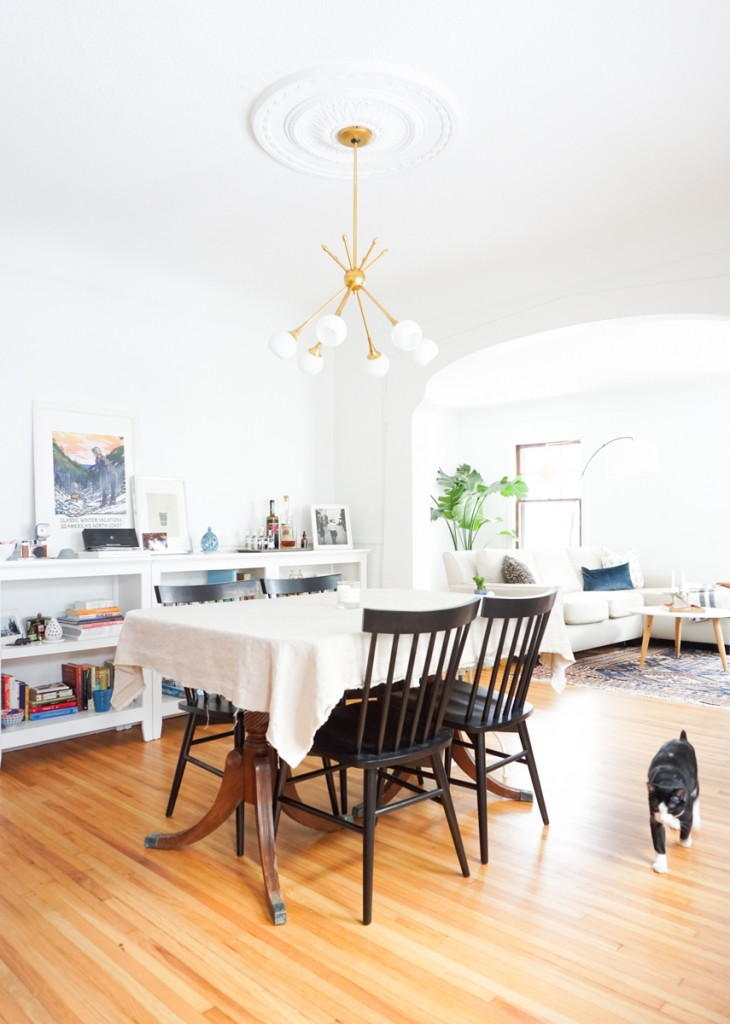 Francois renovates living dining room before after for Dining room renovation