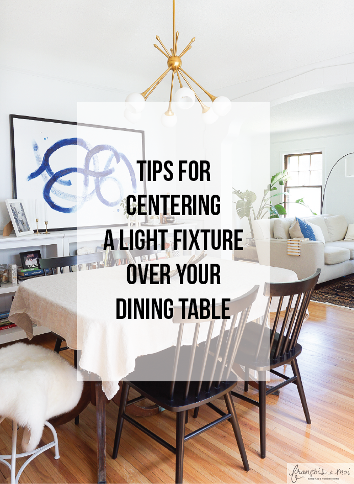 How to Center a Light Fixture Using a Ceiling Medallion - Francois ...