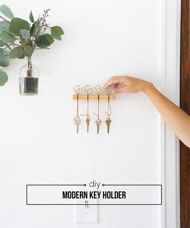 Diy Modern Key Holder Francois Et Moi