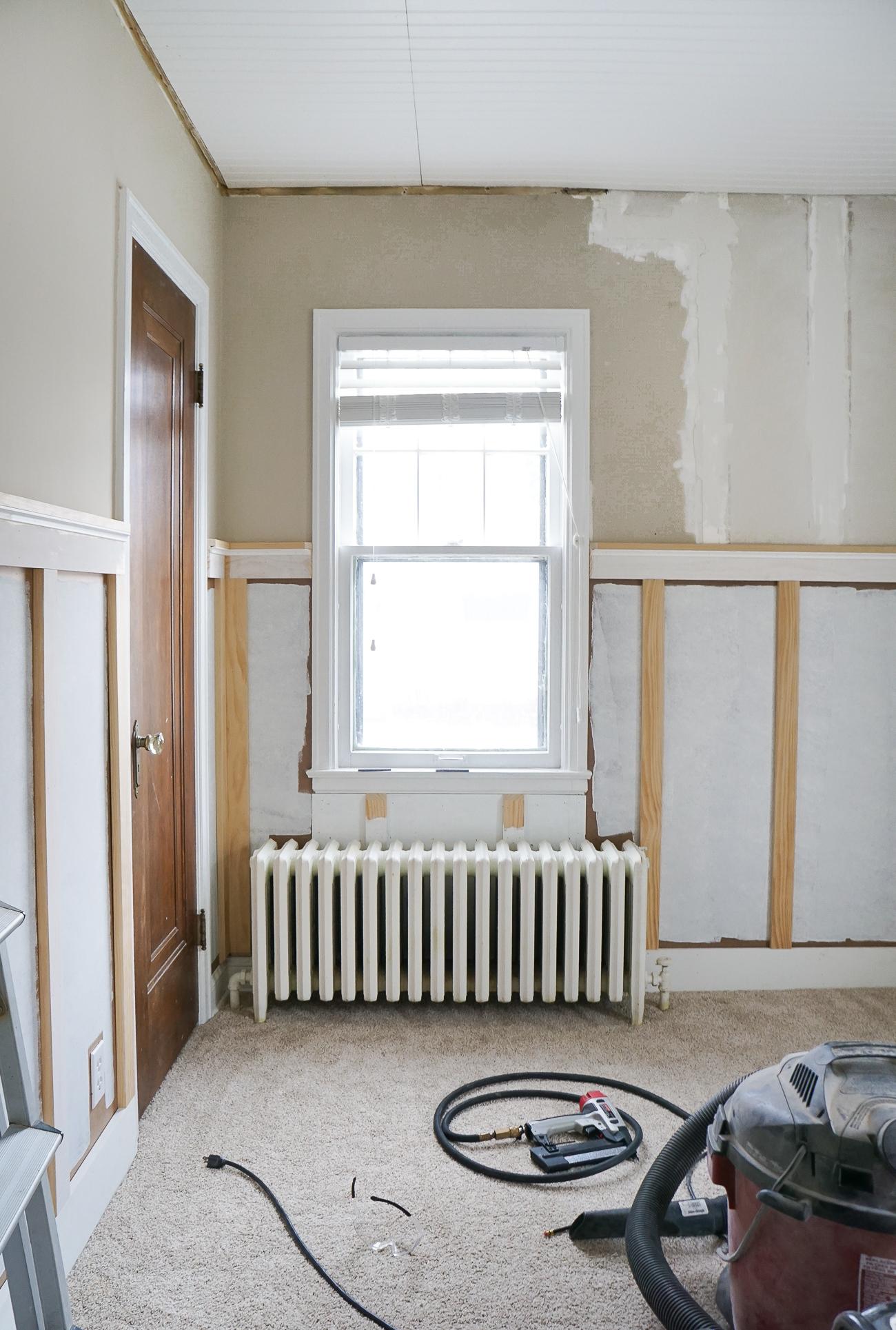 Francois Renovates: Nursery Board & Batten + Wallpaper Progress (Video)